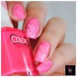 40 Great Nail Art Ideas - Hot pink + Fan Brush