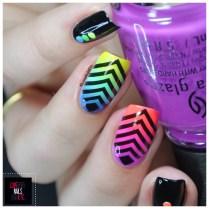 Rainbow geomtric nail art13