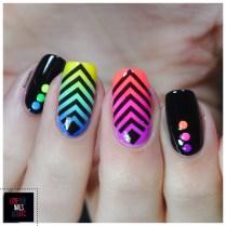 Rainbow geomtric nail art3