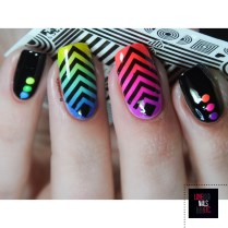 Rainbow geomtric nail art8