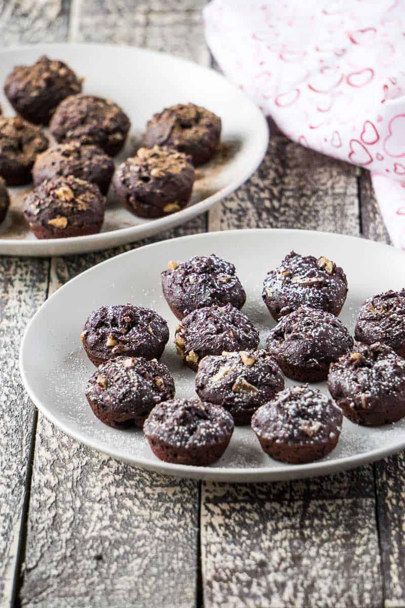 Simple Beet Brownie Bites by Love Namaste Vegan