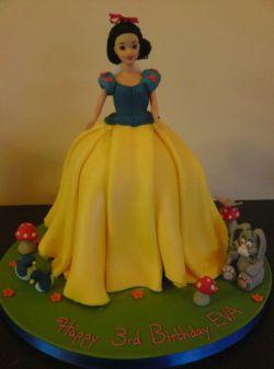 Colourful children's birthday cake