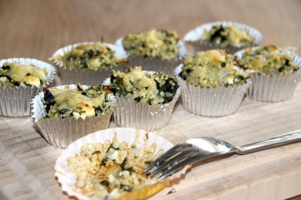 Healthy Food – Spinat Feta Quinoa Minimuffins