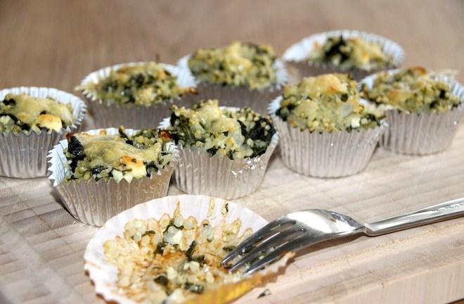 Healthy Food – Spinat Feta Quinoa Minimuffins