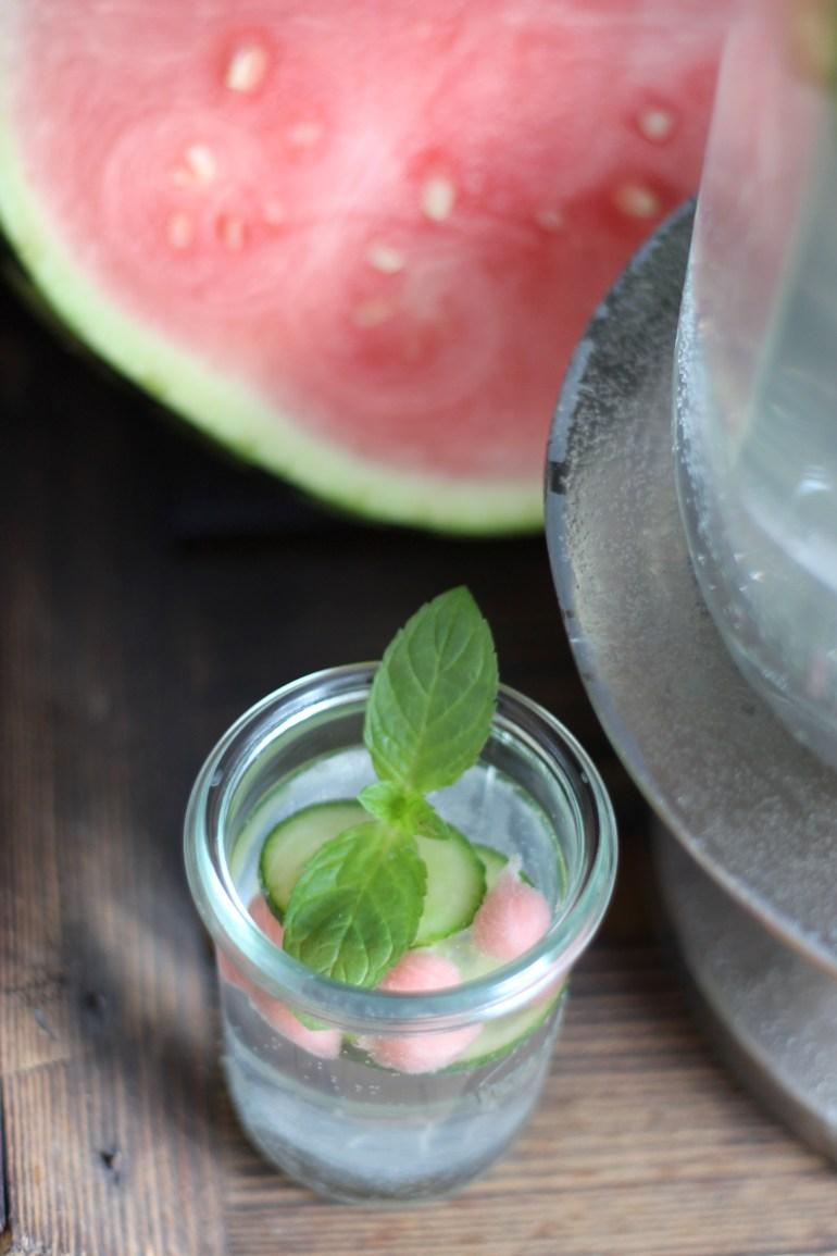 Gurkenwasser Glas