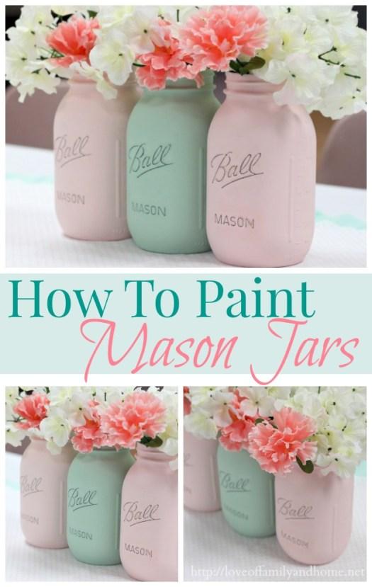 How To Paint Mason Jars 1 Jpg