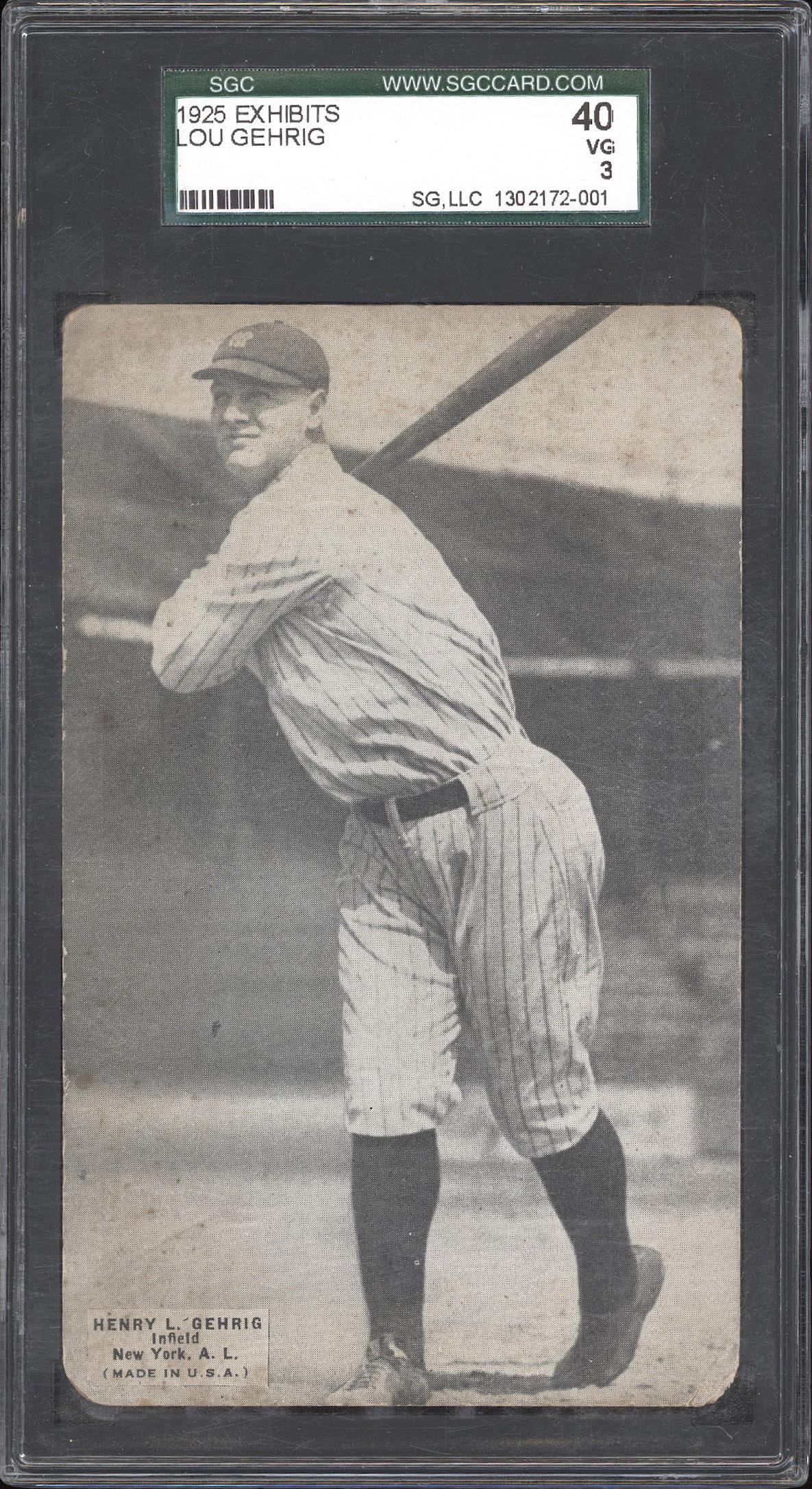 1925 Exhibit Gehrig Front