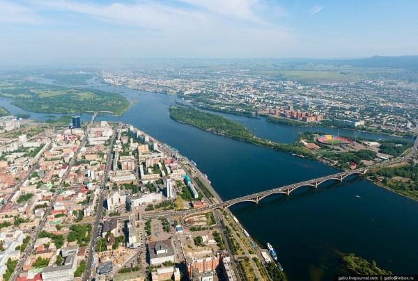 Красноярск и красноярские Столбы с высоты   ФОТО НОВОСТИ