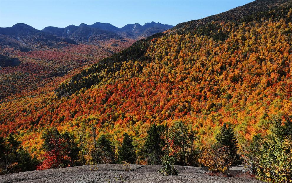 Осень в горах штата Нью-Йорк