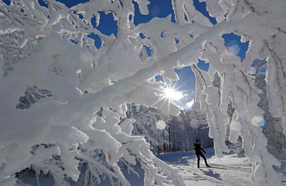 Снежные пейзажи из Франции