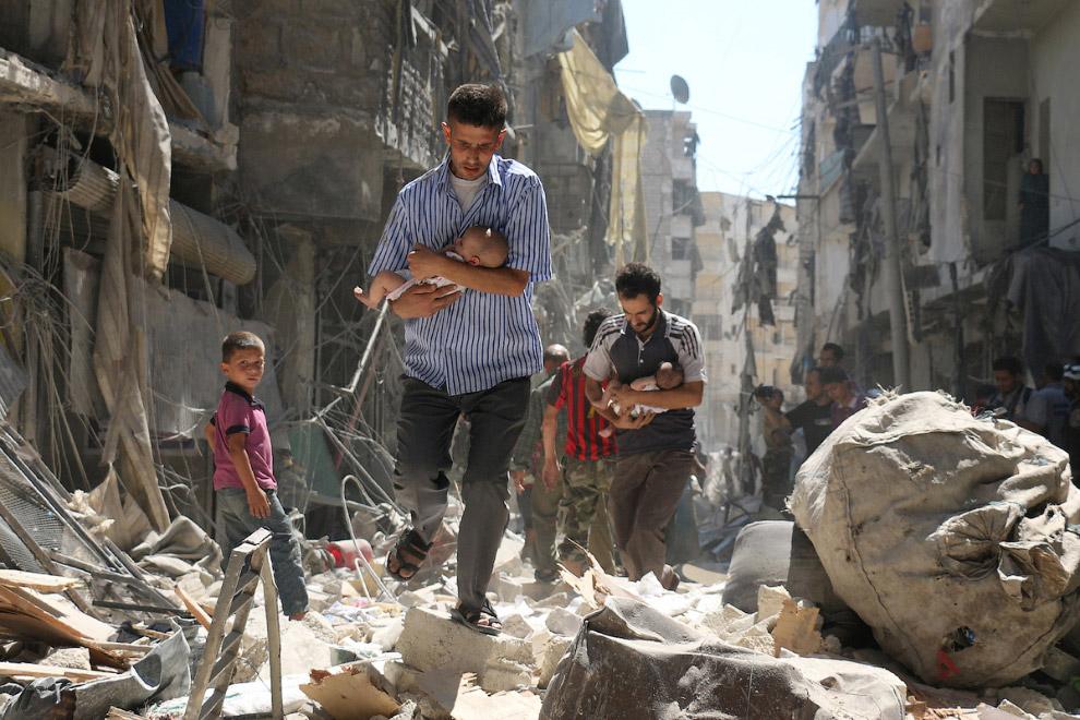 На развалинах Алеппо