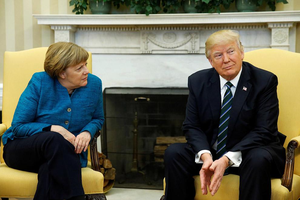 Первая встреча Трампа и Меркель
