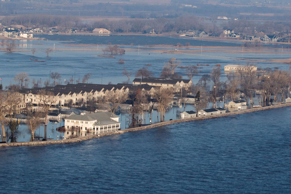 Как выглядит историческое наводнение в США