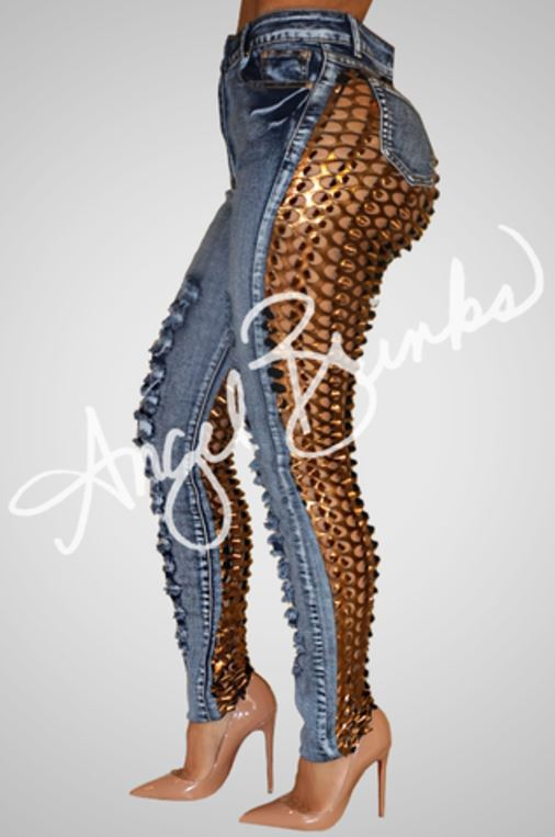 Sinister Blue Jeans by Angel Brinks...dare to be different...these are!!!!