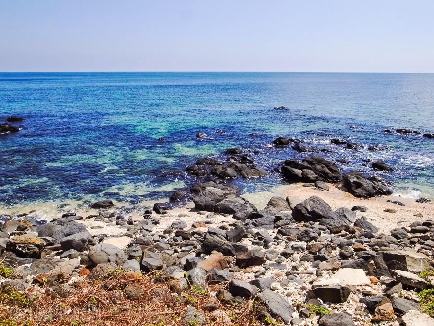 七美の海は澎湖(ポンフー)の中でも特に透明度が高い