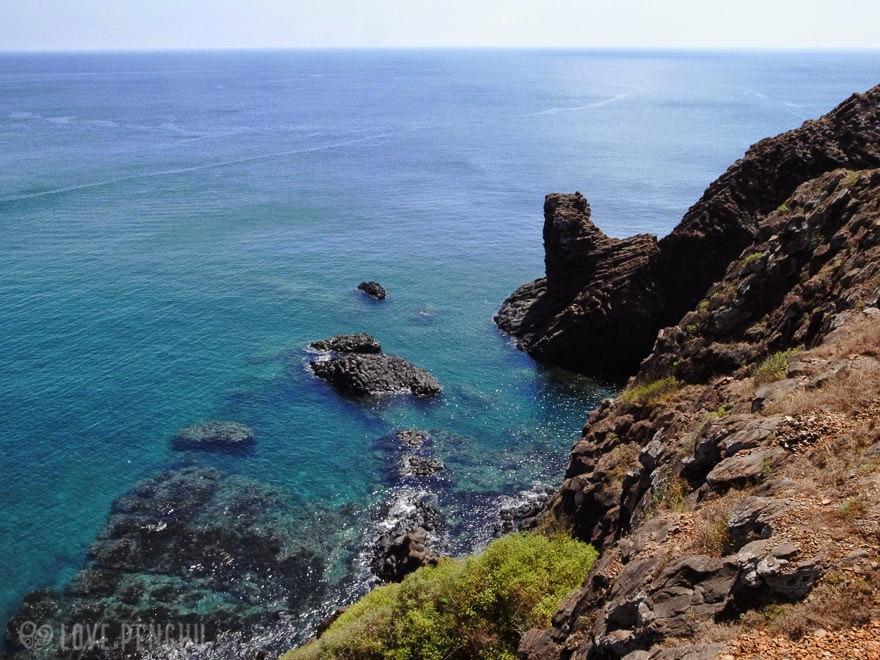 澎湖(ポンフー)の七美で見られる「獅子岩」