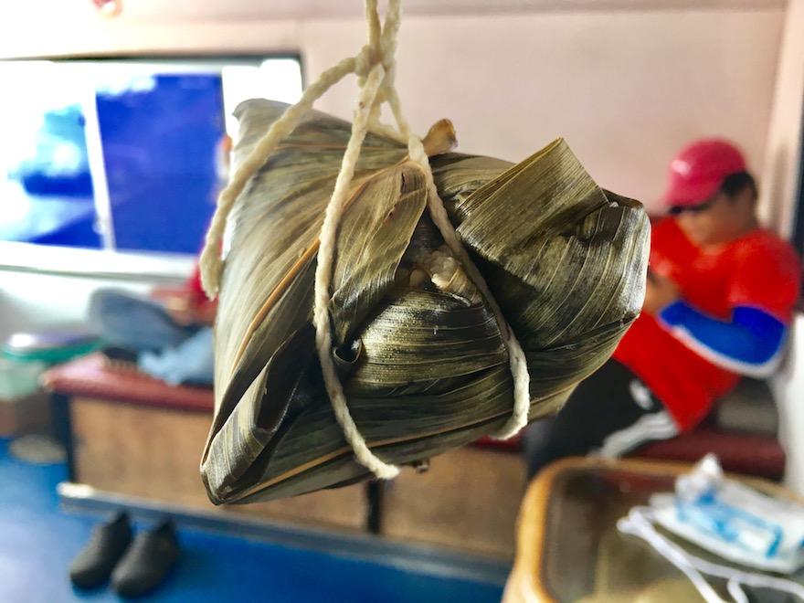 澎湖(ポンフー)の七美で有名な阿婆肉粽のチマキ