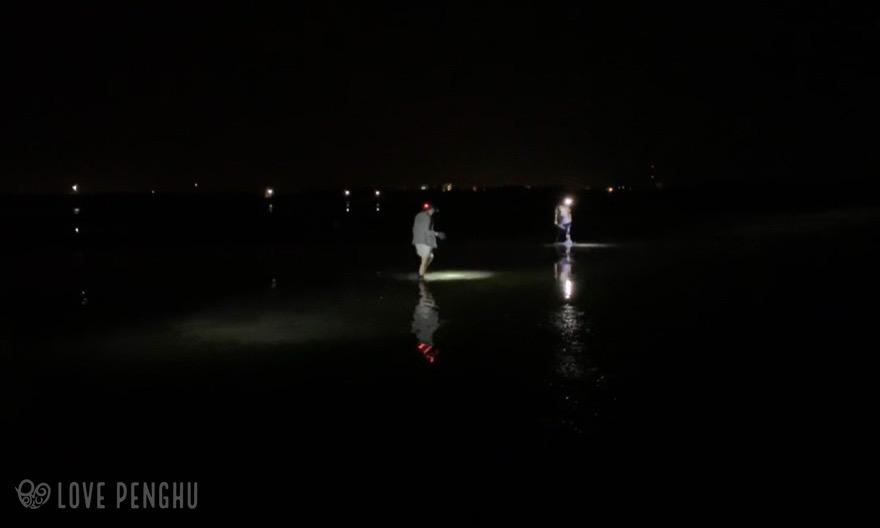 夜の潮間帯