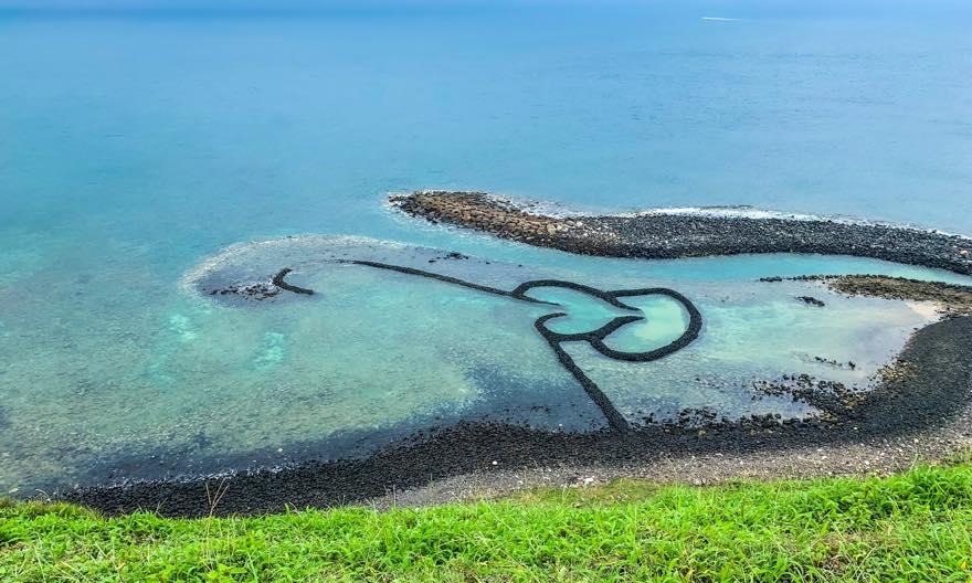 澎湖(ポンフー)七美にあるダブルハート