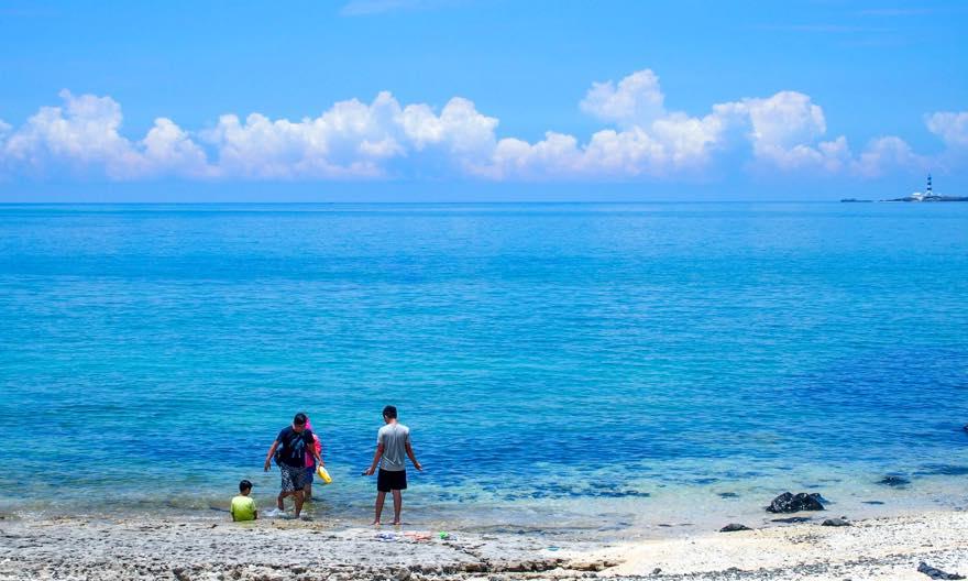 澎湖(ポンフー)の離島「吉貝(ジーベイ)」の海
