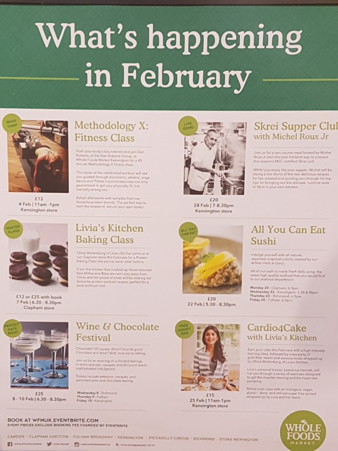 Whole Foods events upcoming