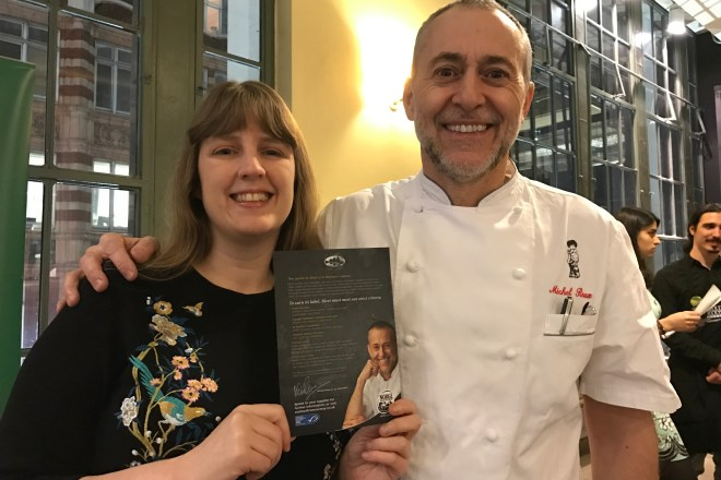 Whole Foods me and Michel Roux