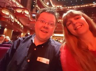 Aladdin in the theatre me and Jason
