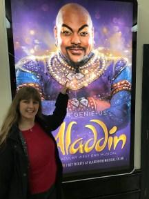 Aladdin poster and I