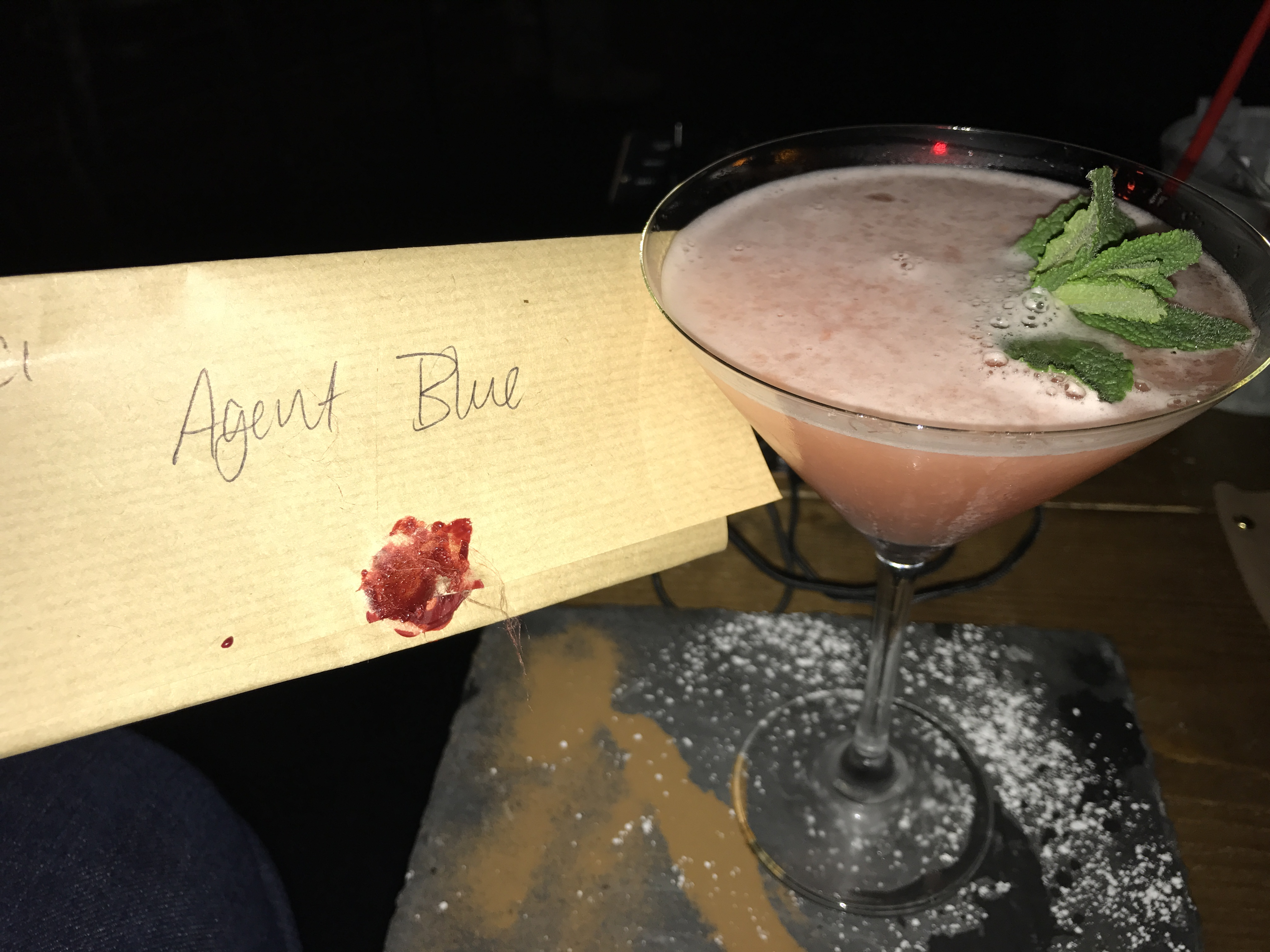 Bletchley Agent Blue cocktail