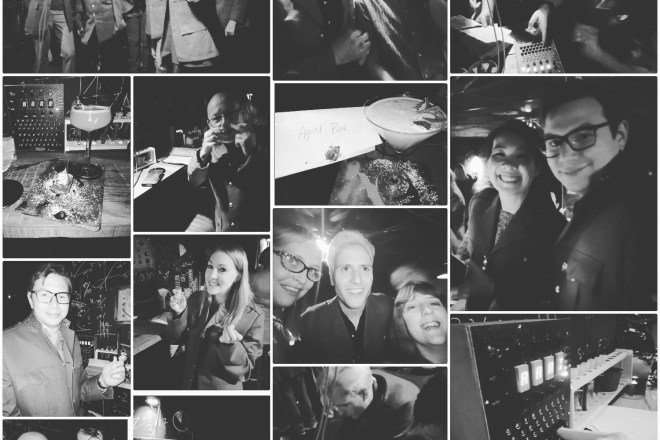 Bletchley Cocktail Bar collage