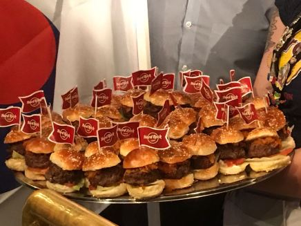 Hard Rock Cafe World Burger Tour burgers
