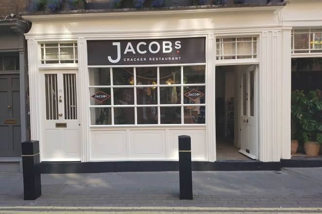 Jacobs Cracker Restaurant pop up front