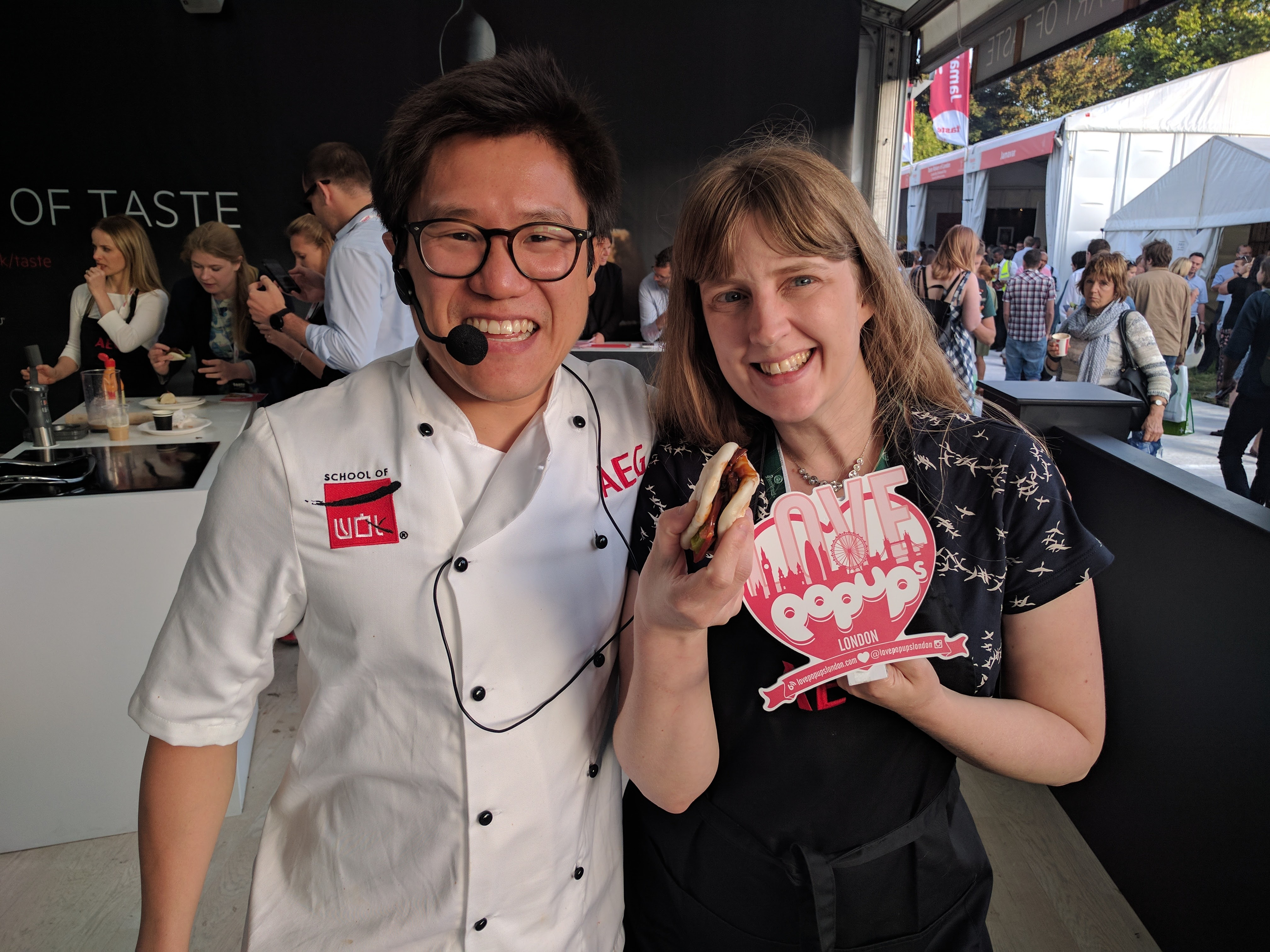 Taste of London Jeremy Pang and me