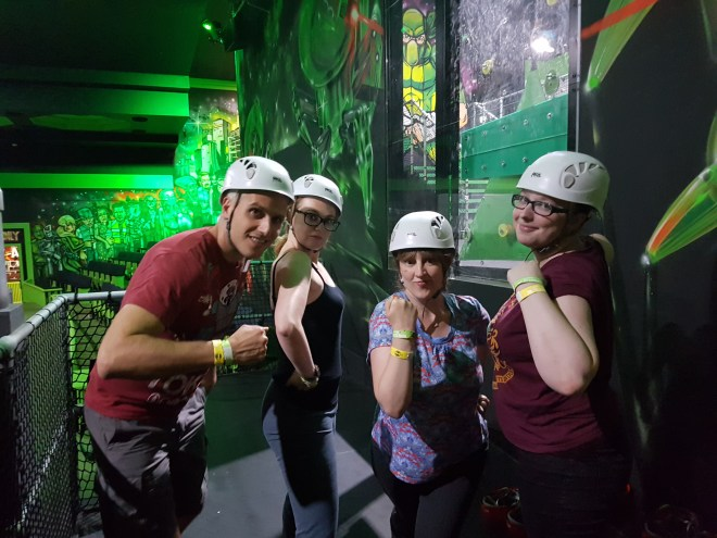 Flip Out E6 Girl power read to tackle the cave with Steve, Henri, Me and Leanne
