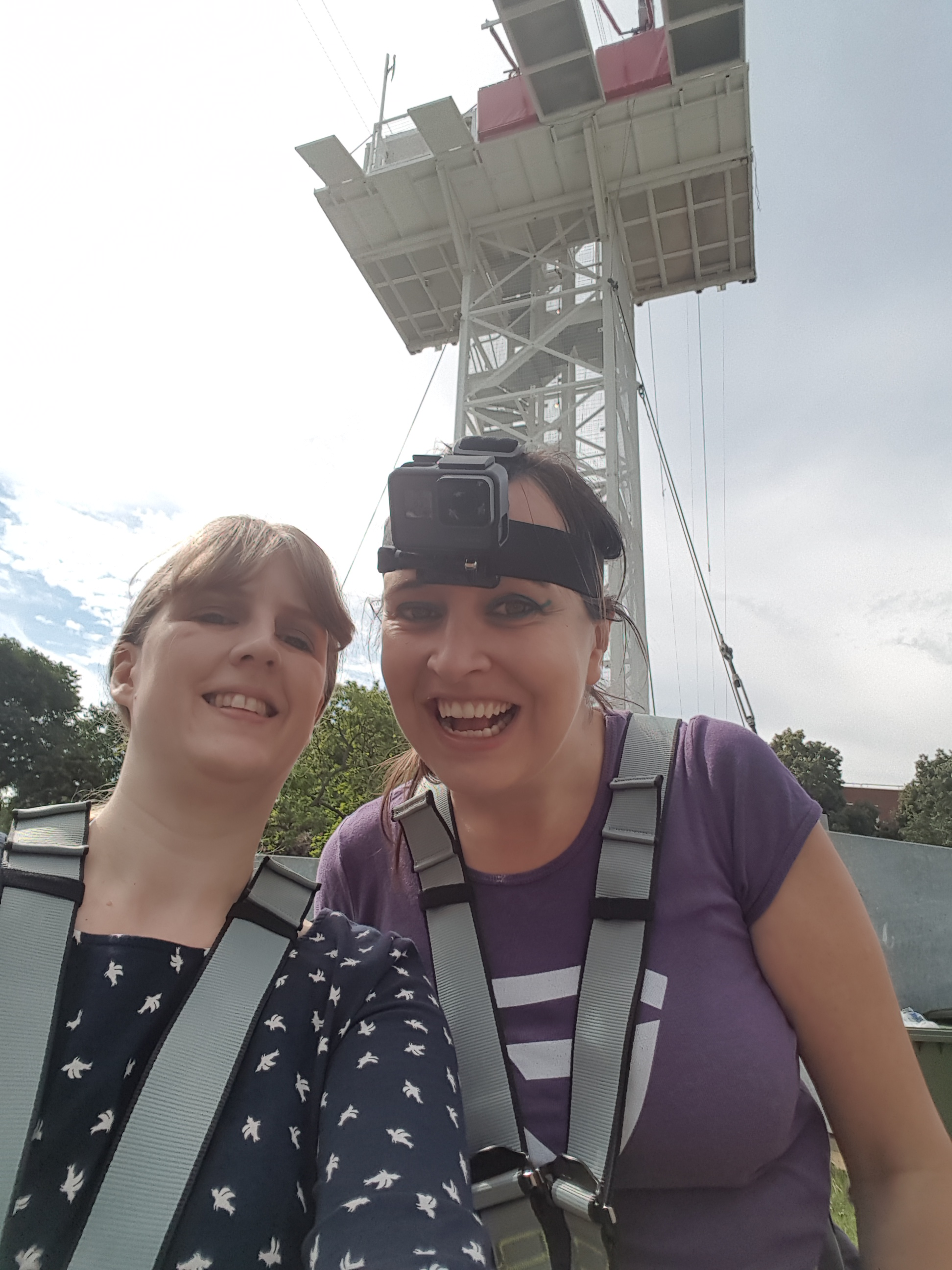 Zip World me and Gemma before the challenge