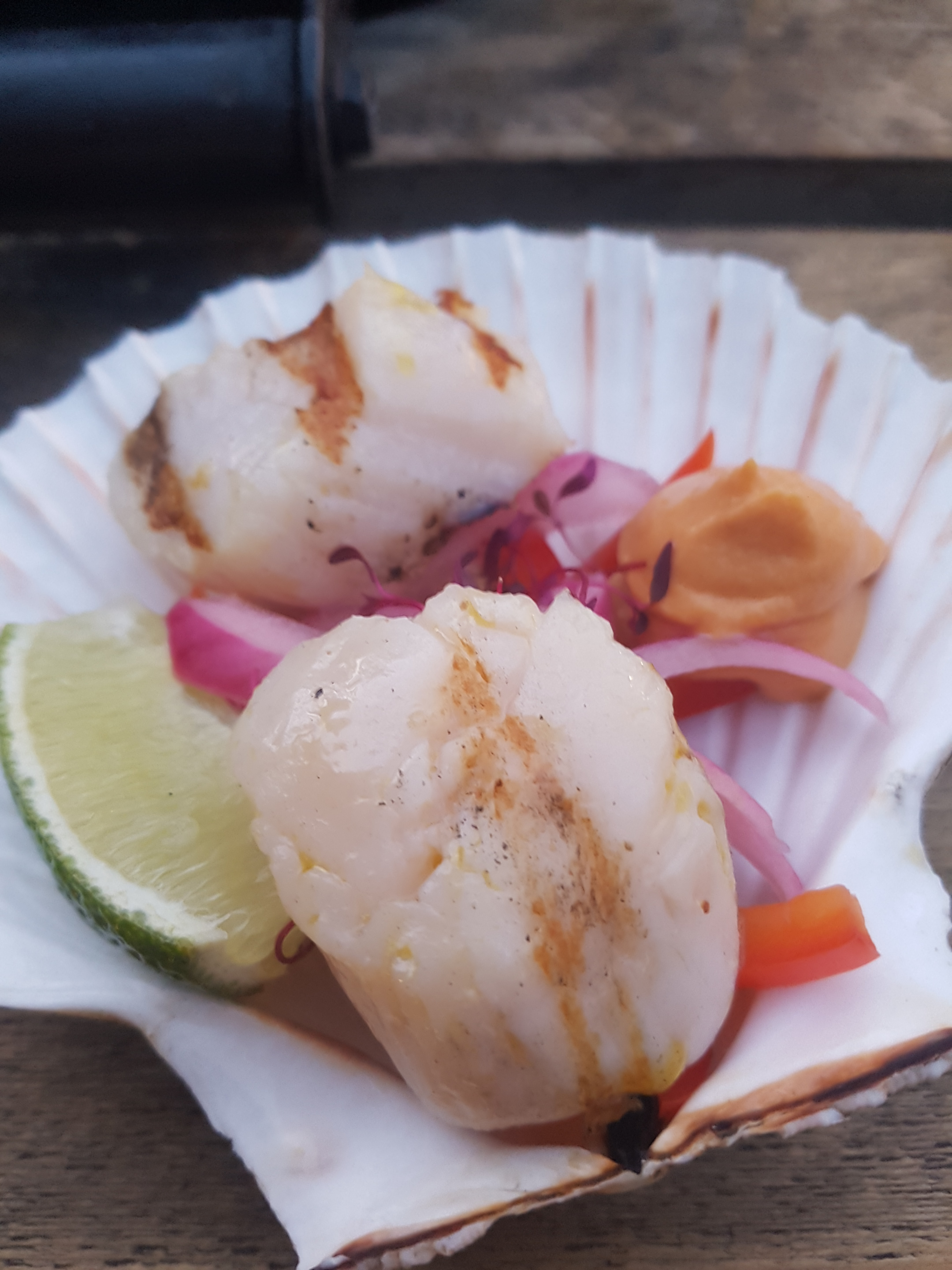 Jimmy Garcia BBQ Club scallop