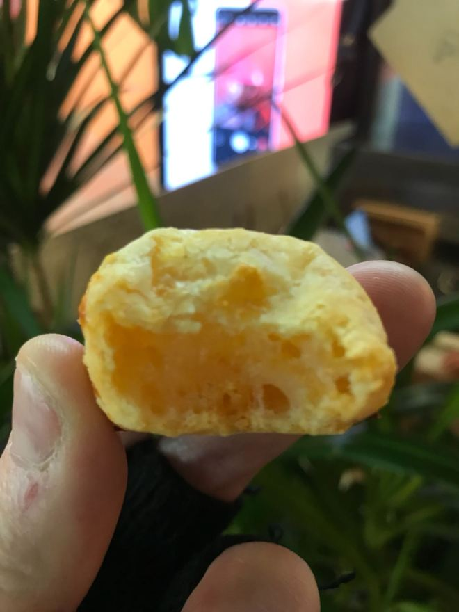 Pão de Queijo half eaten