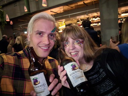 The Listing Steve and me with our Rekorderlig