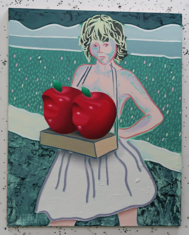 Bompas and Core Rotten to the Core artwork lady with apples