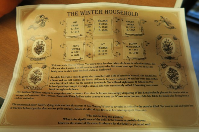 The Winter Household Family History