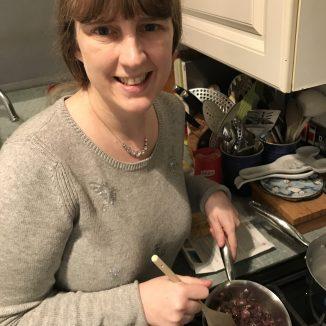 Me cooking the Radicchio dish