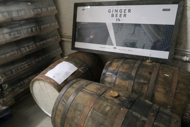 Umbrella Brewing Ginger Beer Barrels