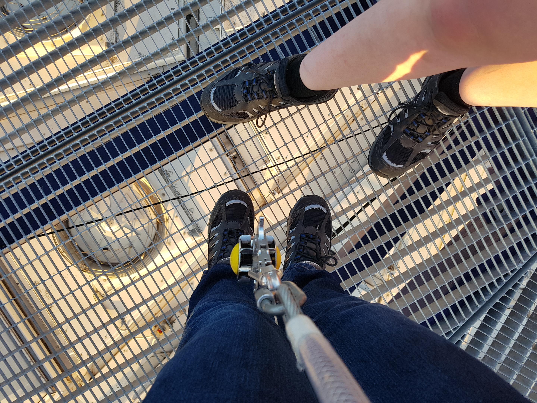 Up at the O2 feet