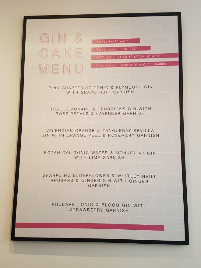 Fentimans Gin Bakery Pearl & Groove menu