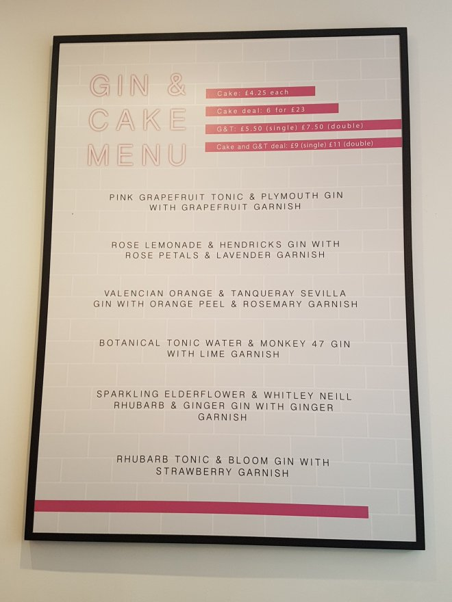Fentimans Gin Bakery Pearl & Groove menu