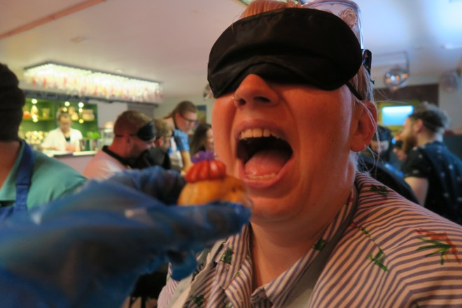Gingerline Faculty of Eatucation Laura blindfold