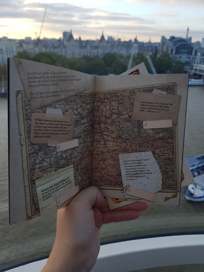 Schweppes London Eye map