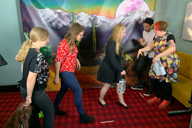 Filming ready - A Door In A Wall - Lights Camera Action