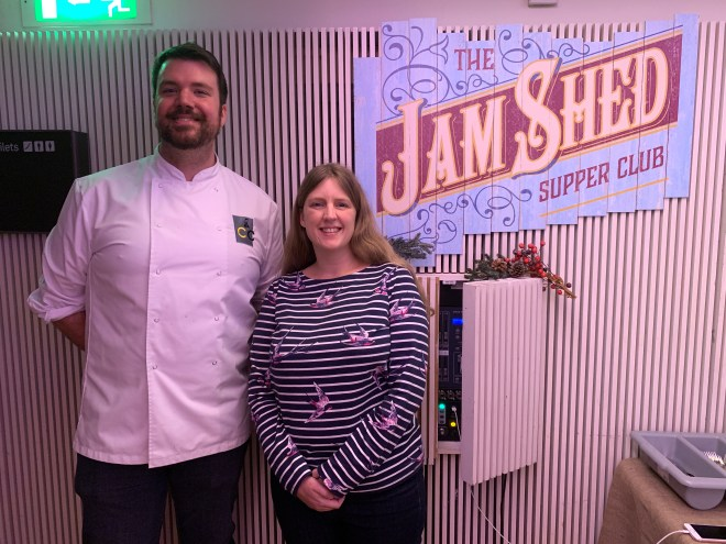 The Jam Shed Supper Club Stuart Archer and me