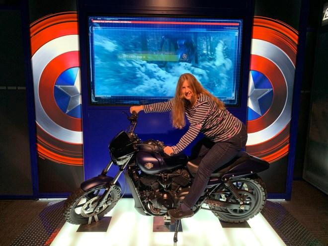 Avengers Station Captain America bike